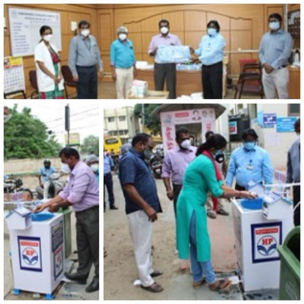HPCL Coimbatore handed over 50 medical full body suits to doctors