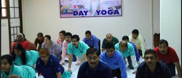 International Day of Yoga Observed by HUDCO