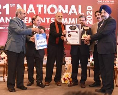 Shri Amandeep Singh CGM IGL receive Top Rankers Excellence Award 2020