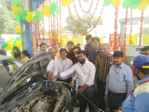 Shri Amit Garg Director Commercial IGL inaugurated  2nd CNG station