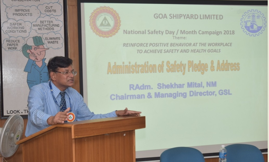 Chief Minister Lays Foundation Stone at Goa Shipyard Ltd