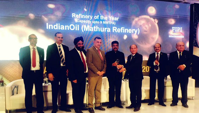 IndianOil Mathura refinery wins the best refinery of the year award