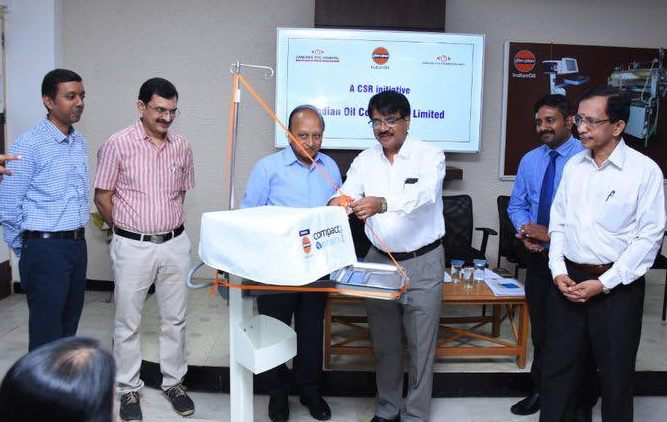 Dr. R V Ramani signed an MoU for conducting Eye care Camps
