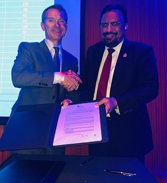 LPG industry Gurmeet Singh Director Marketing signs MoU with James Rockall  CEO WLPGA