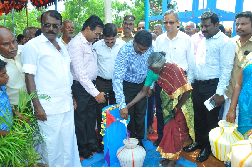 IOCL Jal Jeevan project is dedicated to the villages in Pudukottai District in Tamilnadu under CSR