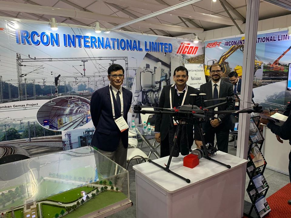 IRCON at rail pavilion of Elecrama 2020