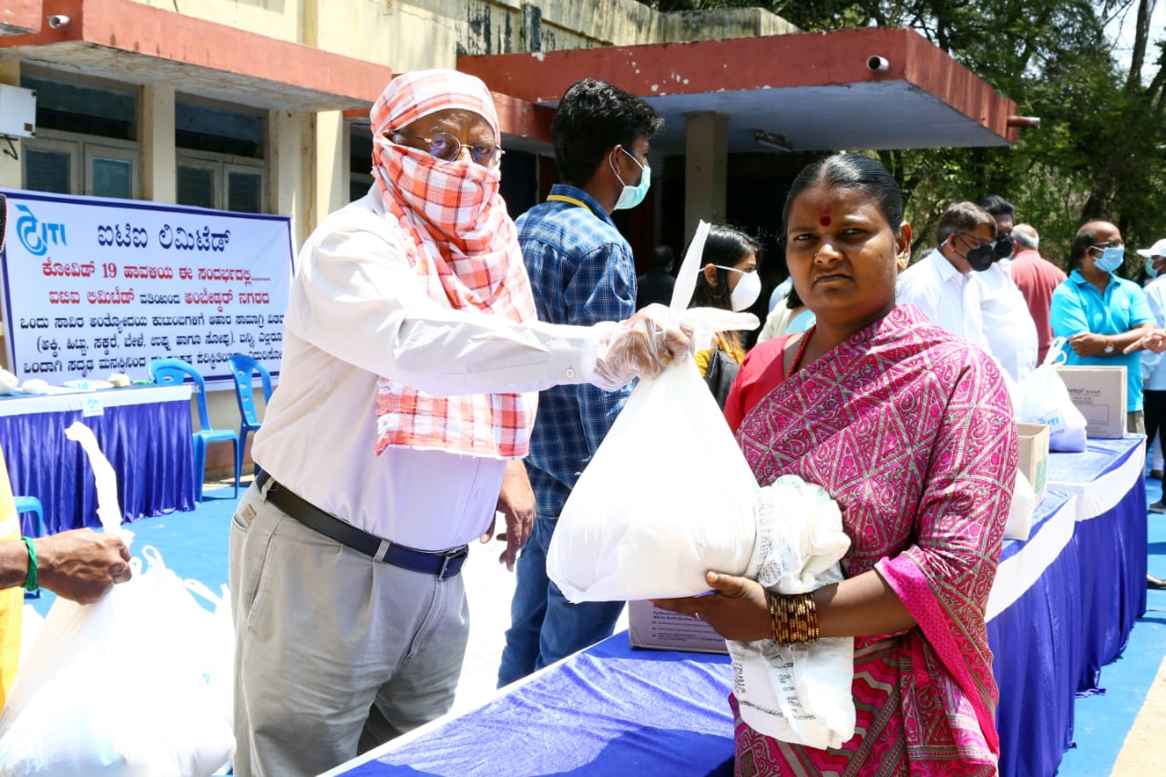 ITI Limited distributes essential provisions bags to 1000 poor families