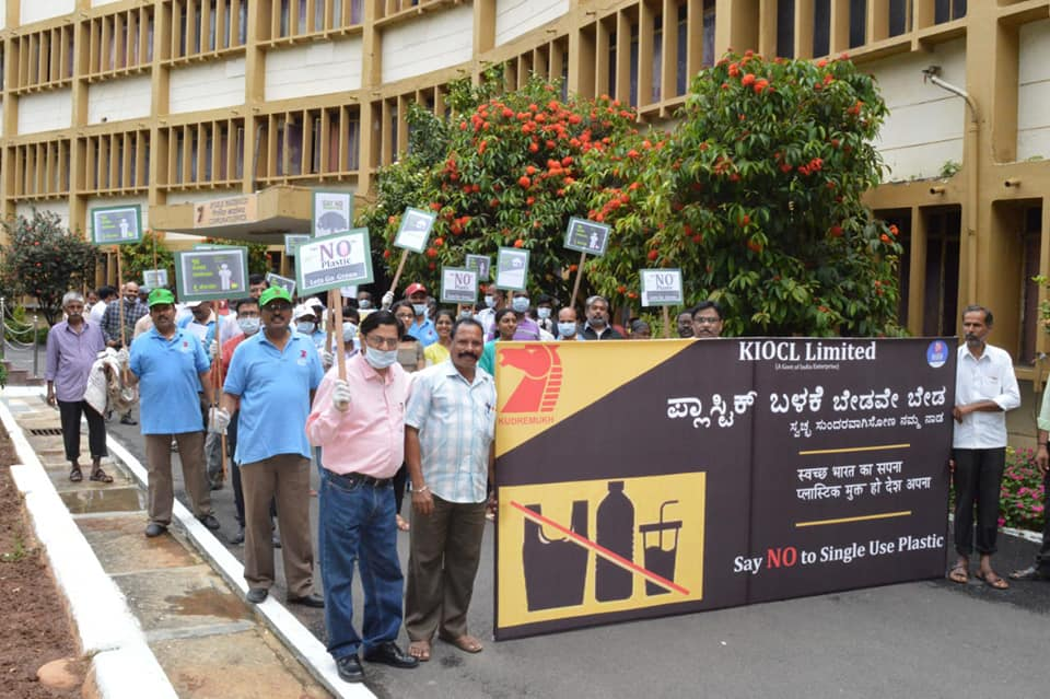 KIOCL organised a program with BBMP to collect Plastics