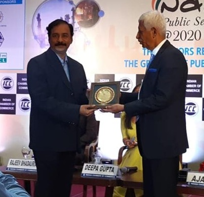 Shri MV Subba Rao CMD KIOCL felicitated PSE Excellence Award for the Growth of PSU