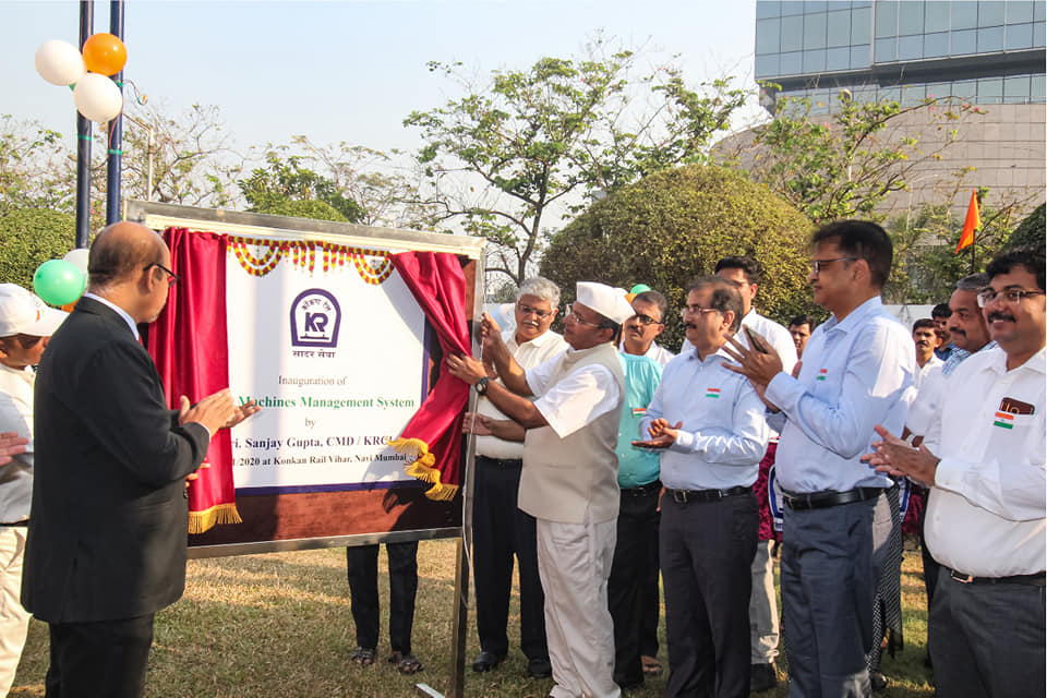 Shri Sanjay Gupta CMD KRCL inaugurated the track machines management system