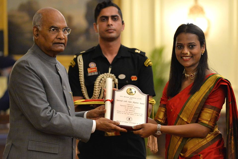 President Shri Ram Nath Kovind conferred the 61st annual lalit kala akademi awards