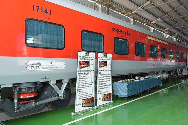 Make in India LHB coaches that enhance passengers safety