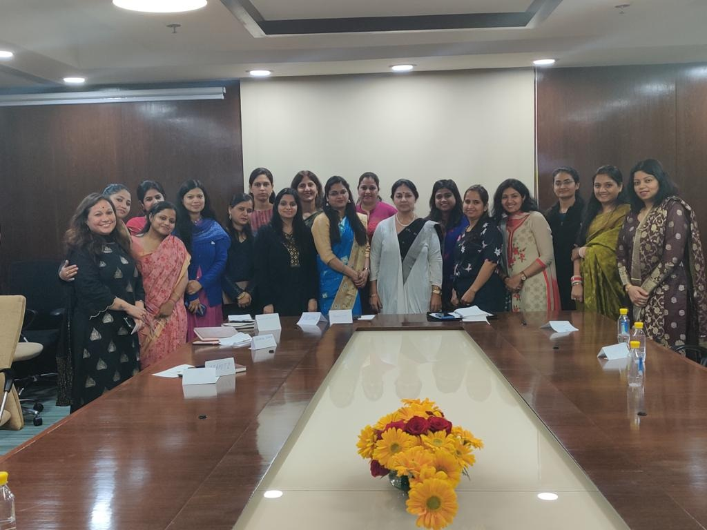 Ms Meenakshi Davar interacts with PTC women employees