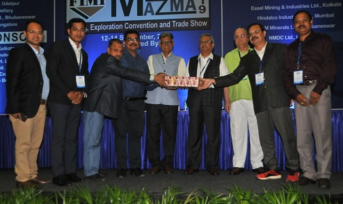 Nalco received First prize in mining Mazma 2019