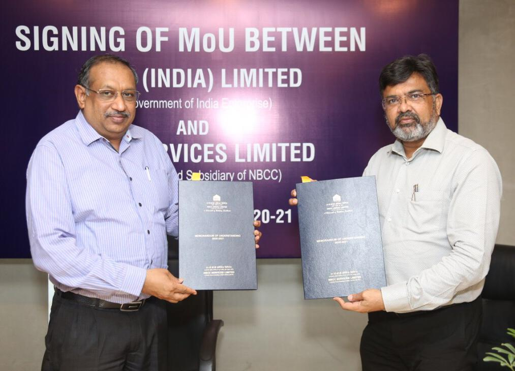 NBCC Services Signed MoU with NBCC For FY 2020-21