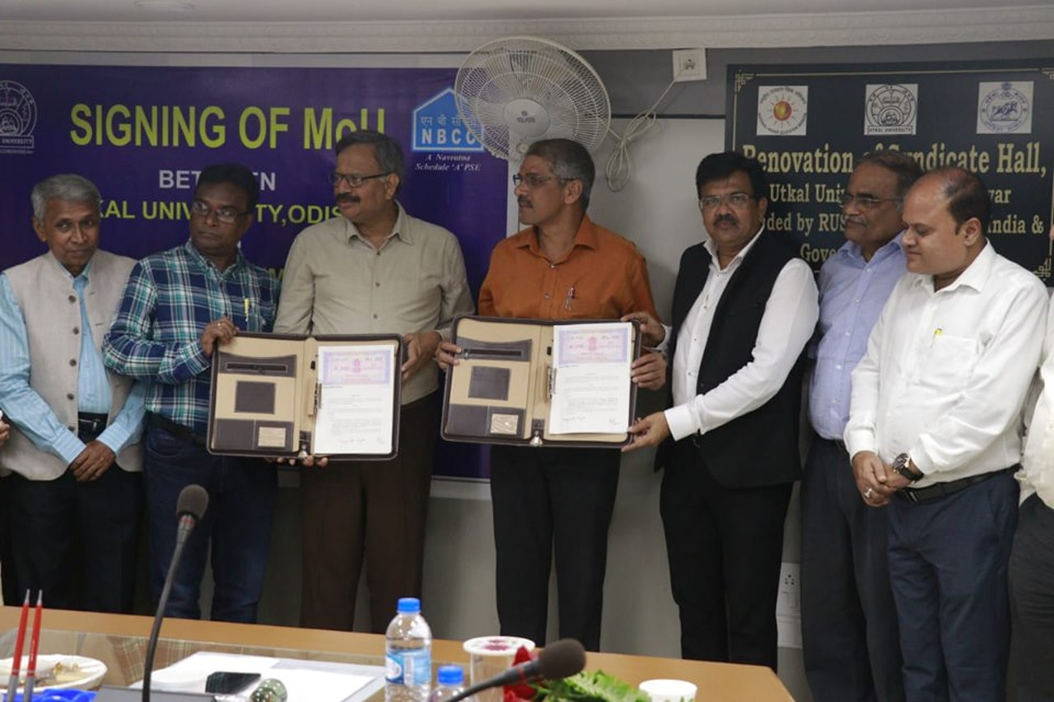 NBCC signs MoU with UTKAL University