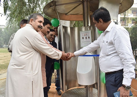 NBCC donated waste collection boxes installed toiletries and planted 1000 tree