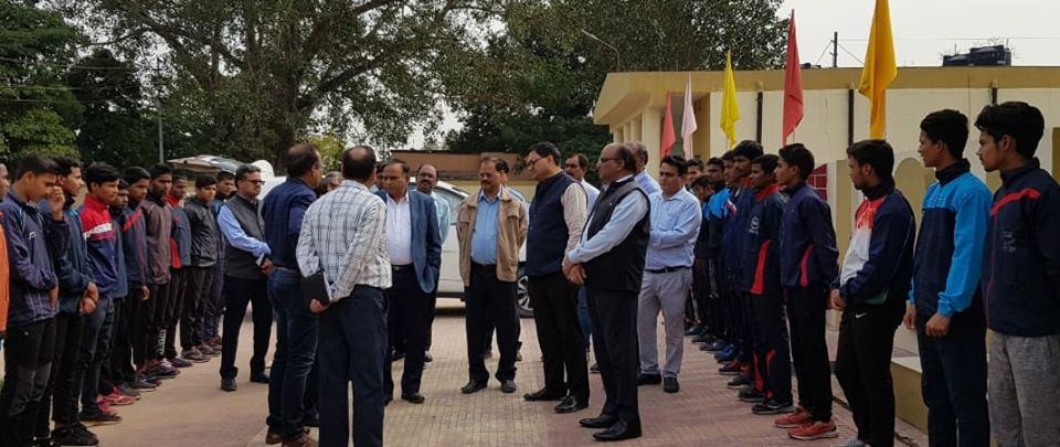 Shri P K Sinha CMD NCL interacted with athletes at academy