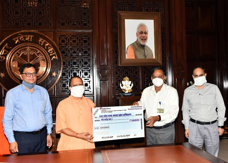 NCL CMD Handed Over Rs. 5 Crore to UP Government for 50 Ambulances