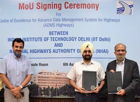 NHAI signed MoU with IIT-Delhi