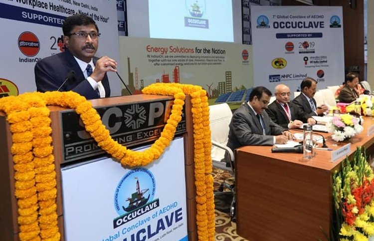 Shri N K Jain director NHPC addressed inaugural session of occulave 2019