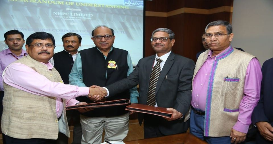 NHPC signed MoU with Powergrid