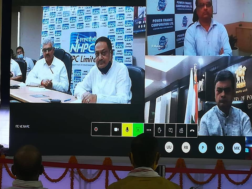 Shri R.K. Singh Power Minister dedicated 72 CSR projects of NHPC and PFC
