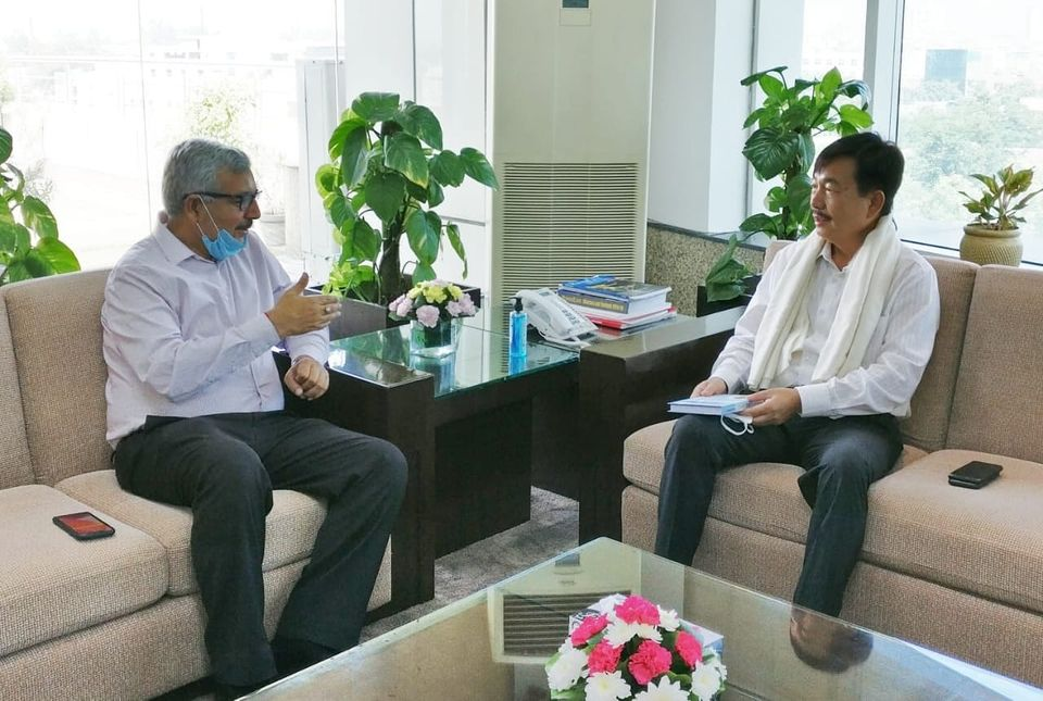 Shri Tapir Gaon MP Lok Sabha visited NHPC Corporation