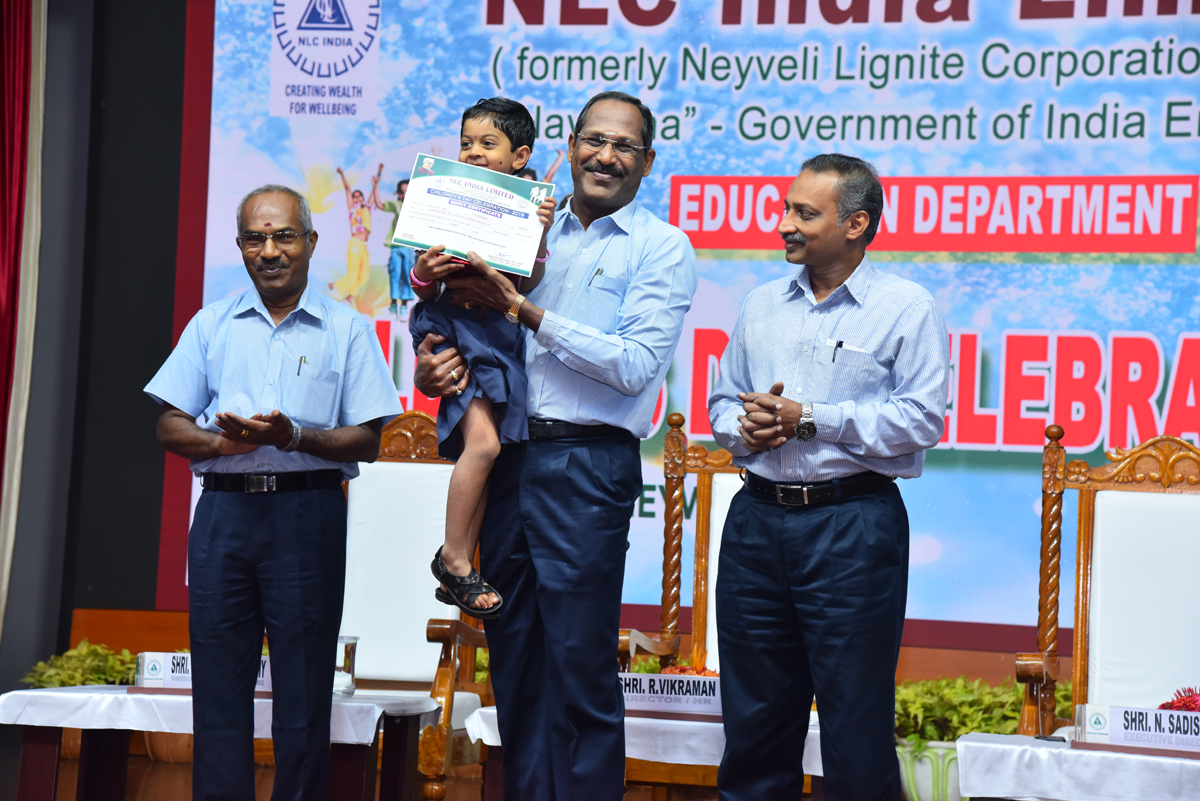 NLCIL joined the nation in celebrating Children Day