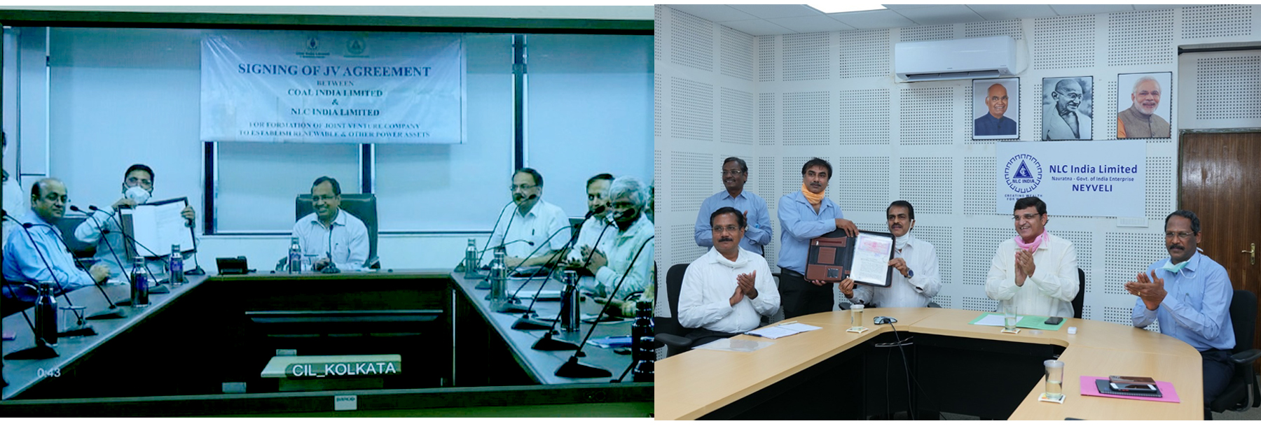 CIL signed an MoU with NLC India Ltd