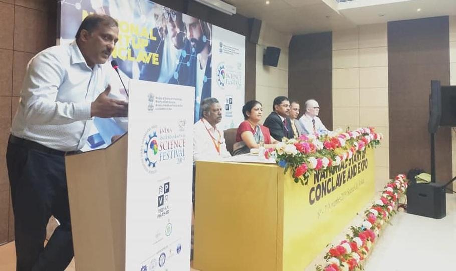 Dr H Purushotham CMD NRDC attended the IISF 2019 at Kolkata