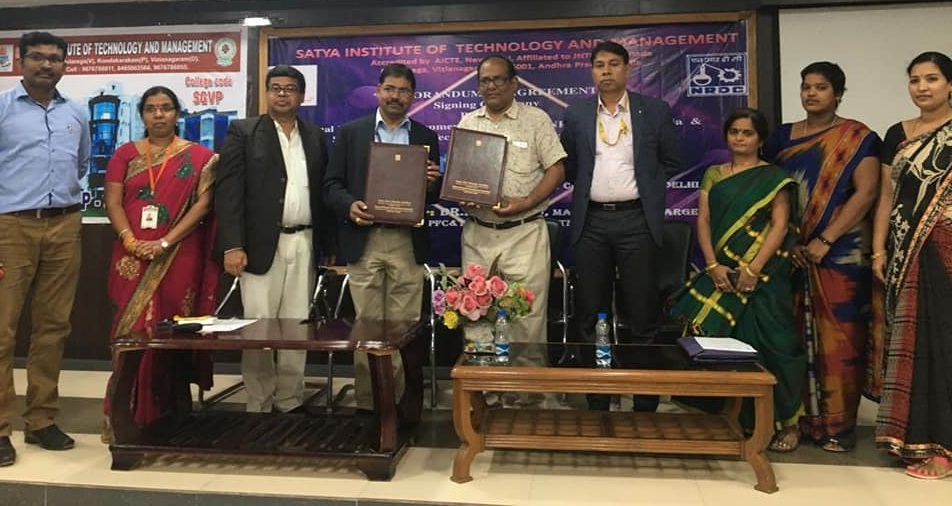 NRDC signed MOA with Satyam Institute of Technology and Management