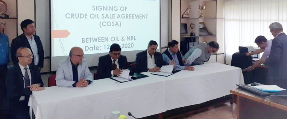 Crude Oil Sale Agreement signed between NRL and OIL