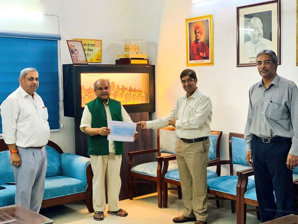 NSC employees contributes Rs. 75 lakhs to PM cares fund