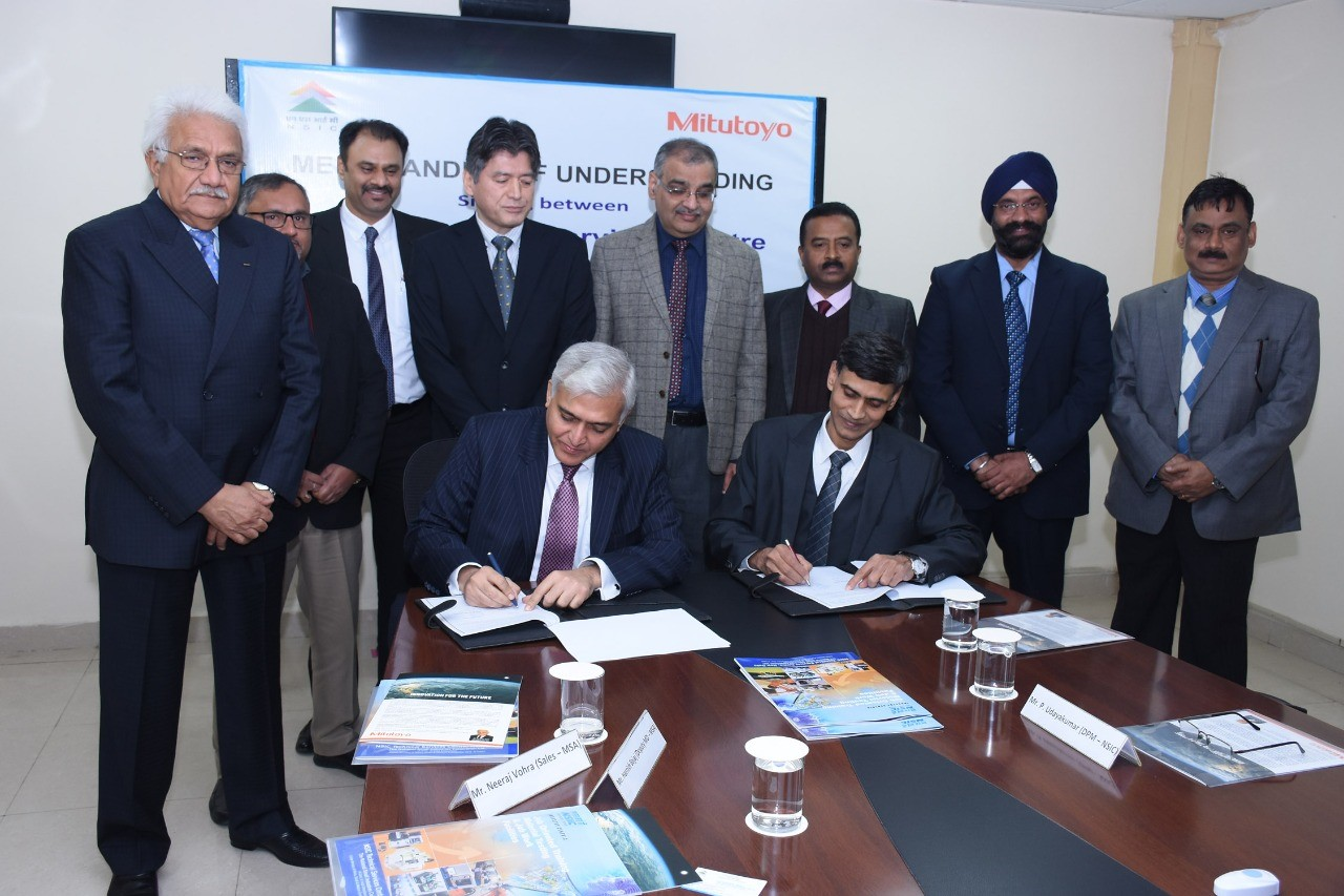 NSIC signs MoU with Mitutoyo South Asia