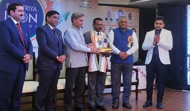 Shri P.Udayakumar Director NSIC conferred with RASHTRIYA ICON AWARD