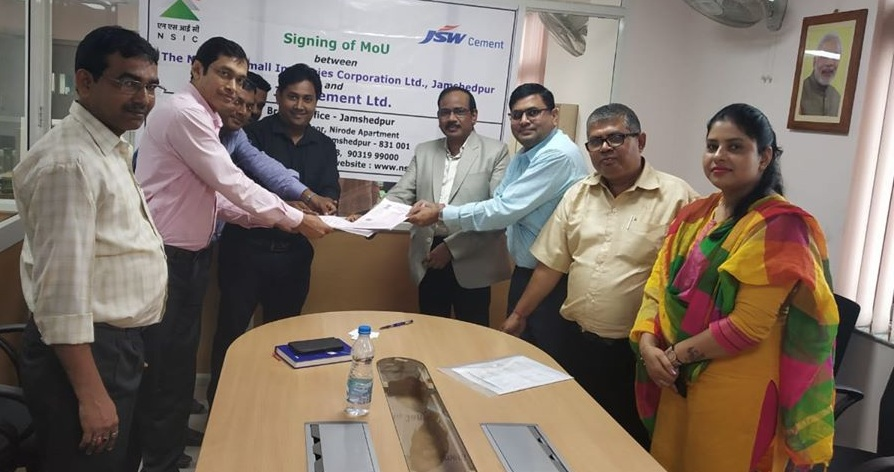 NSIC signed Mou JSW Cement