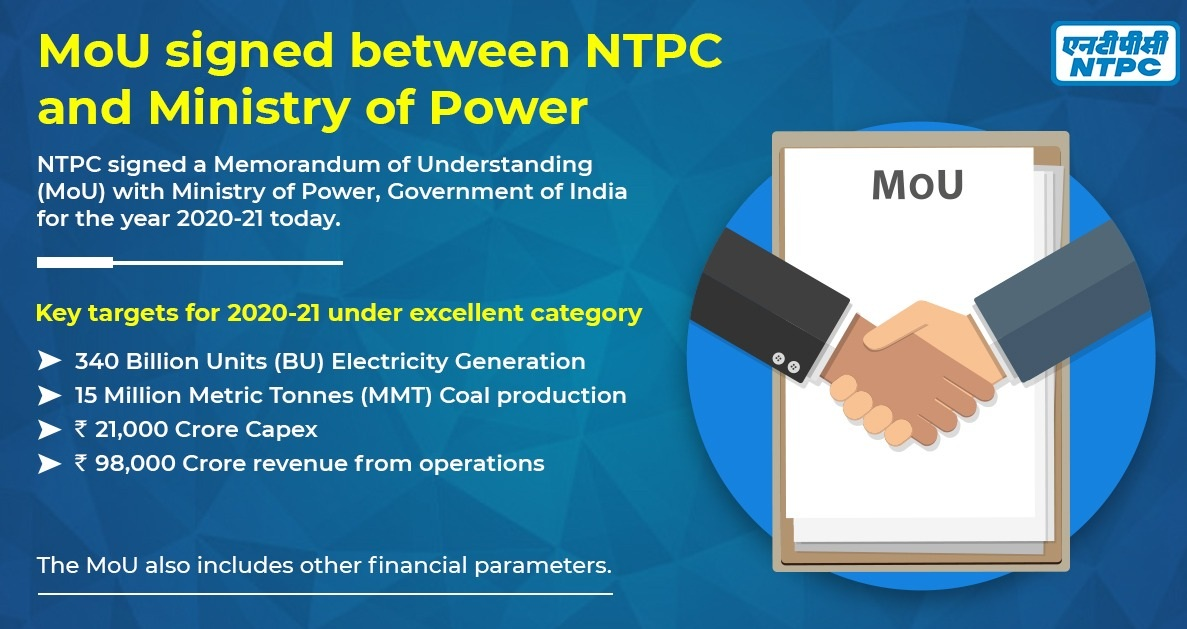 NTPC signs MoU with Government