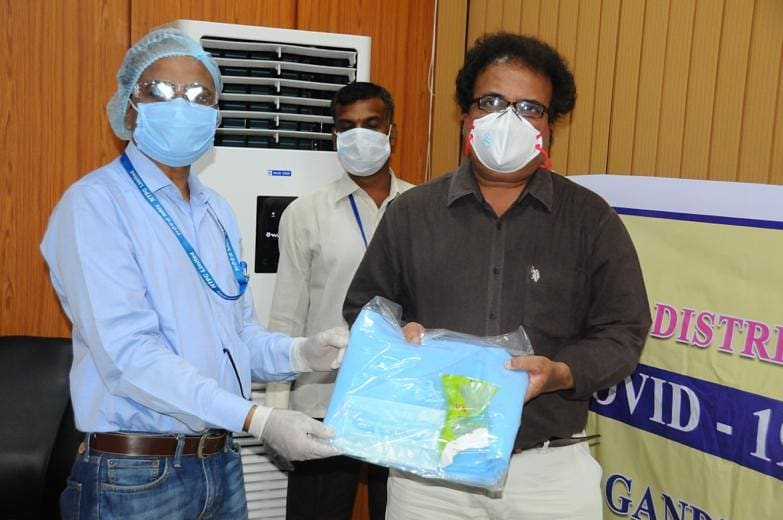 NTPC provides PPE kits to Gandhi Hospital