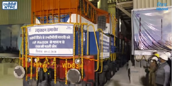 Fly Ash transported from NTPC Rihand to Dadri