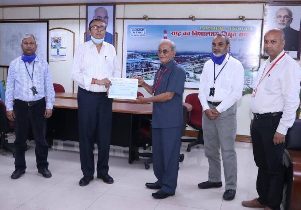 NTPC Vindhyachal contributes Rs 25 lakh for relief measures against  COVID19