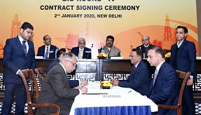 Contracts signing ceremony of OALP bid round-IV