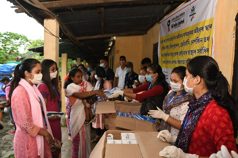 OIL provides free medicines to the people in the relief camps