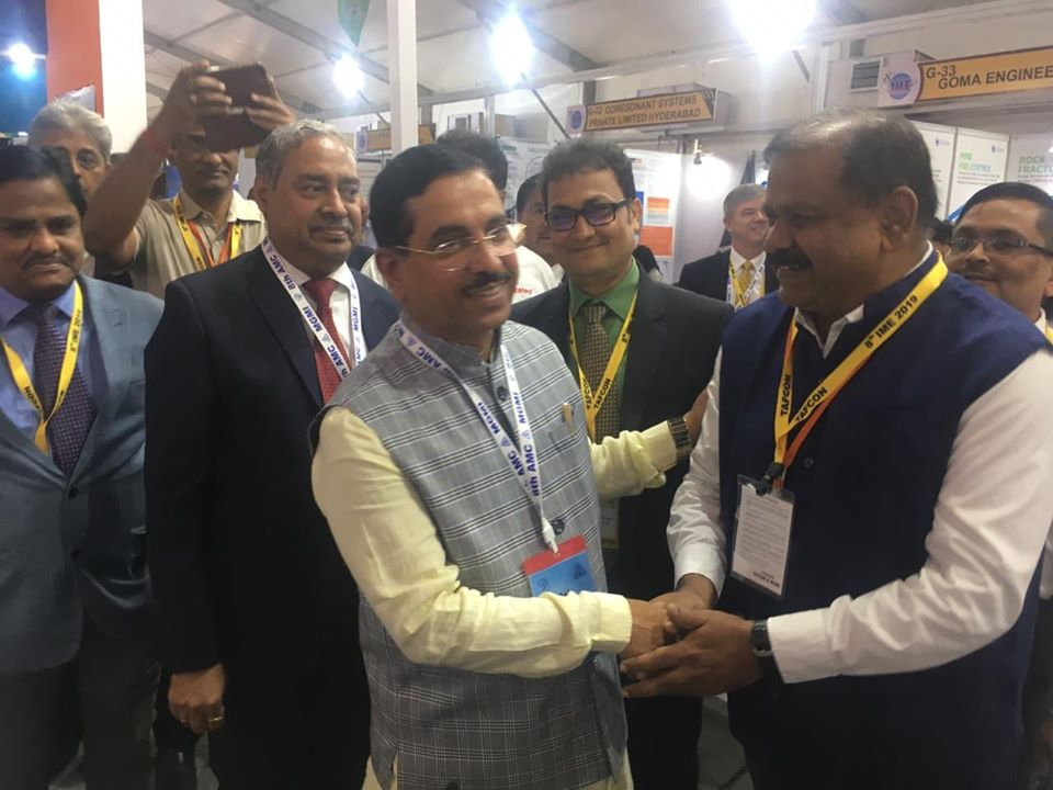 Shri Pralhad Joshi Minister of Coal Mines and Parliamentary Affairs visits the IndianOil stall