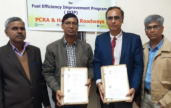 PCRA signed MoU with Haryana Roadways