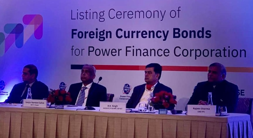 Listing ceremony of foreign currency bonds for PFC