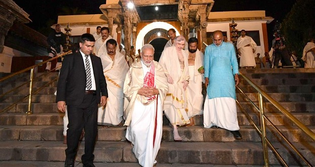 PM Prayed in Sree Padmanabha Swamy temple  Inaugurated Swadesh Darshan Scheme