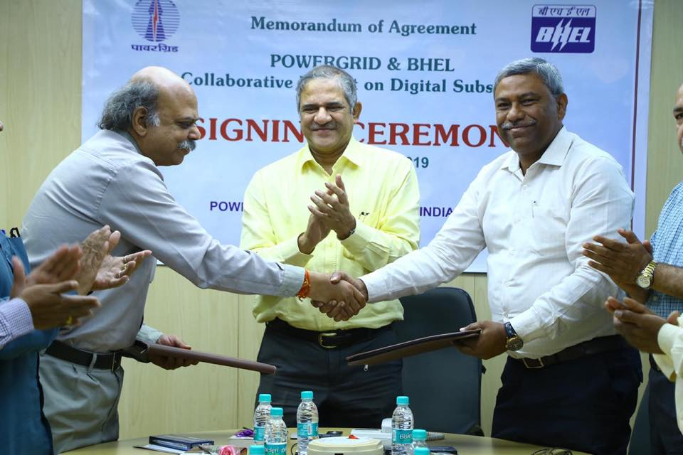 POWERGRID signed MOU with Bharat Heavy Electricals Limited for Digital Substation Collaborative R and D Project