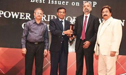 POWER GRID Awarded as the Best issuer on EBP PSU