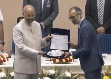 President of India awards POWERGRID for Swacchata initiative